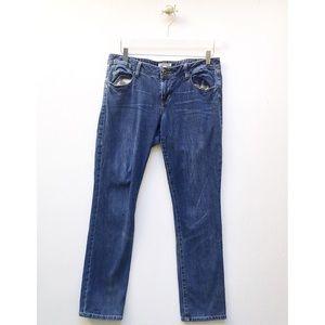 cabi / straight leg blue classic jeans